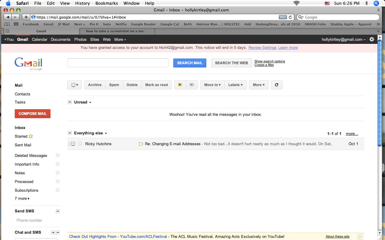 hotmail inbox open